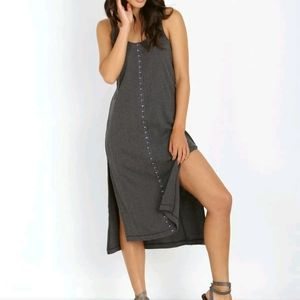 Free People Dresses - Free People We the Free XS Gray Ribbed Tank Dress